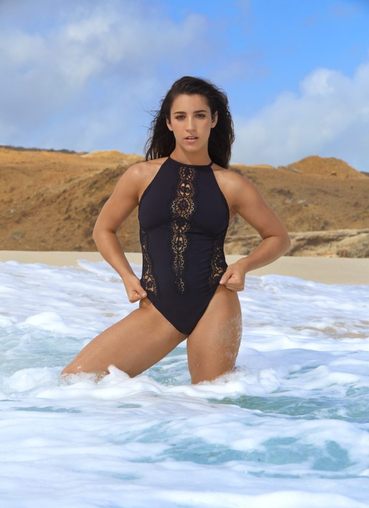 Aly Raisman Beach Images