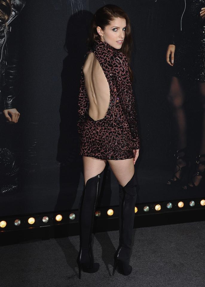 Anna Kendrick Backless Photos