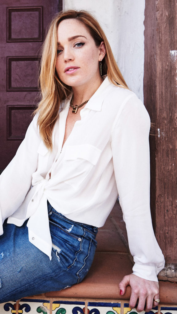 Caity Lotz Jeans Images Gallery