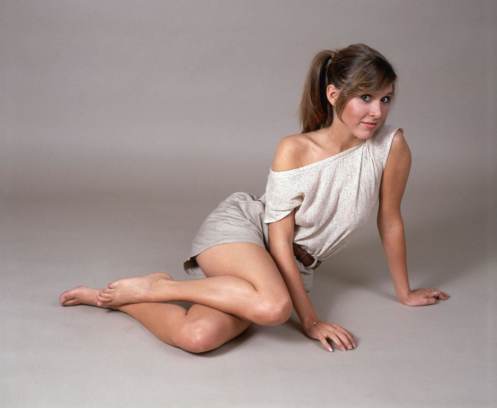 Carrie Fisher Feet Thigh Images