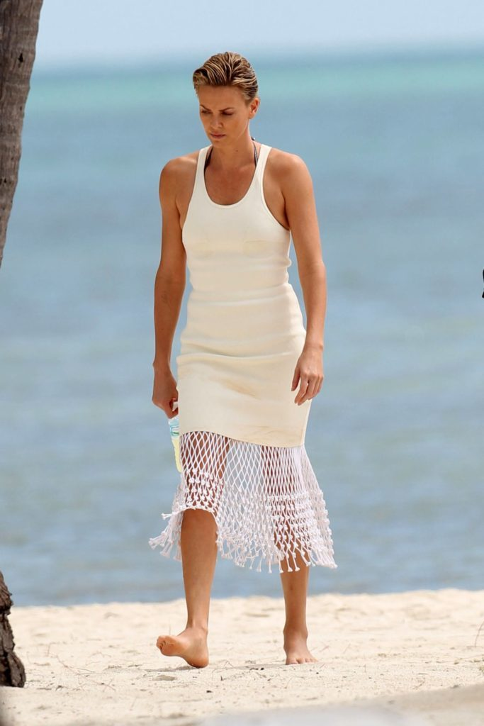 Charlize Theron Beach Images