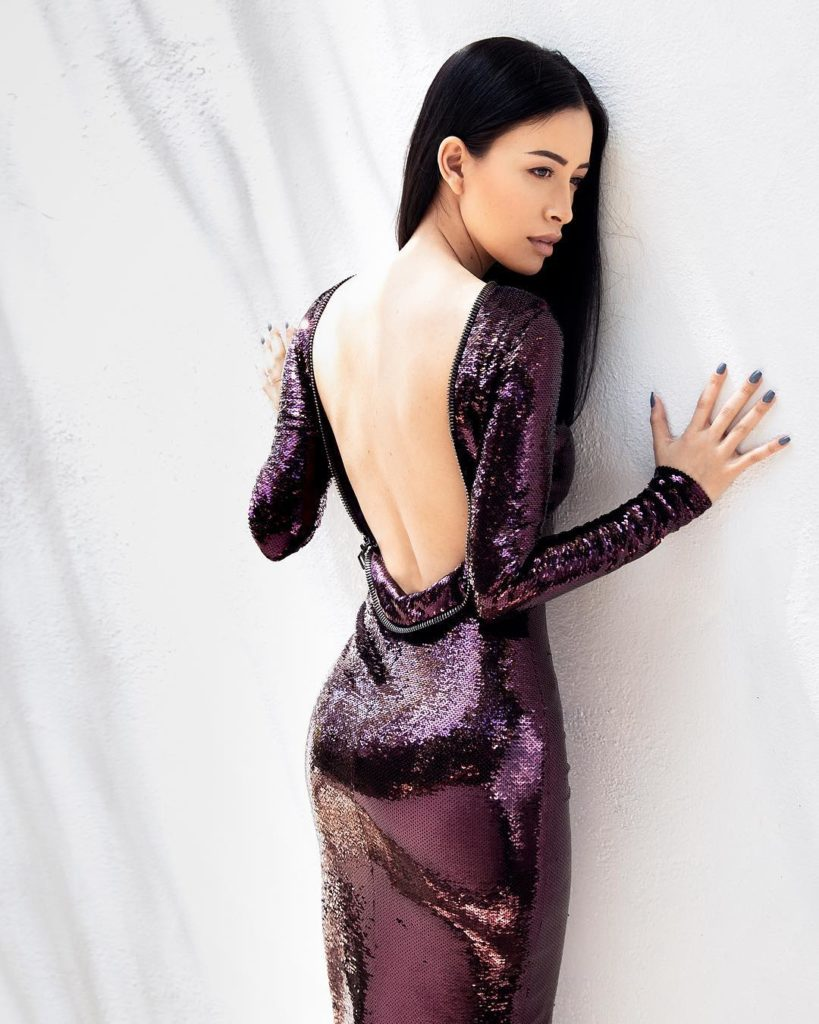 Christian Serratos Backless Images