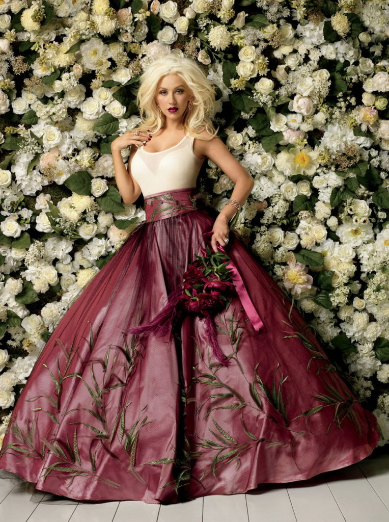 Christina Aguilera Gown Wallpapers