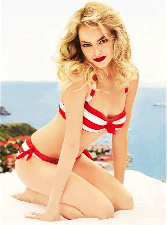 Emma Stone Bra Panty Pics