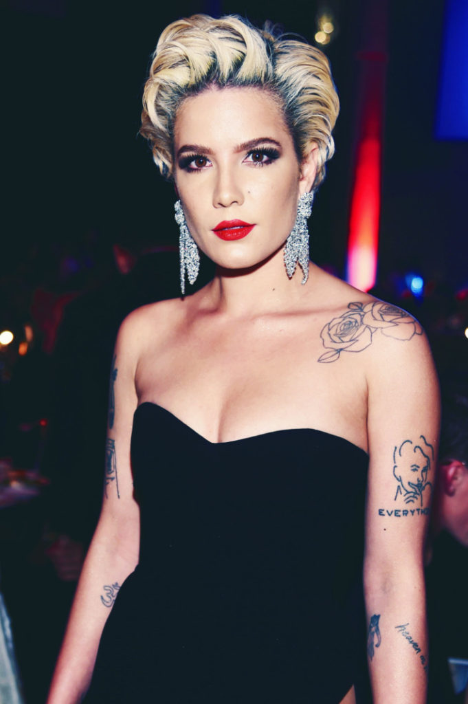 Halsey Topless Images