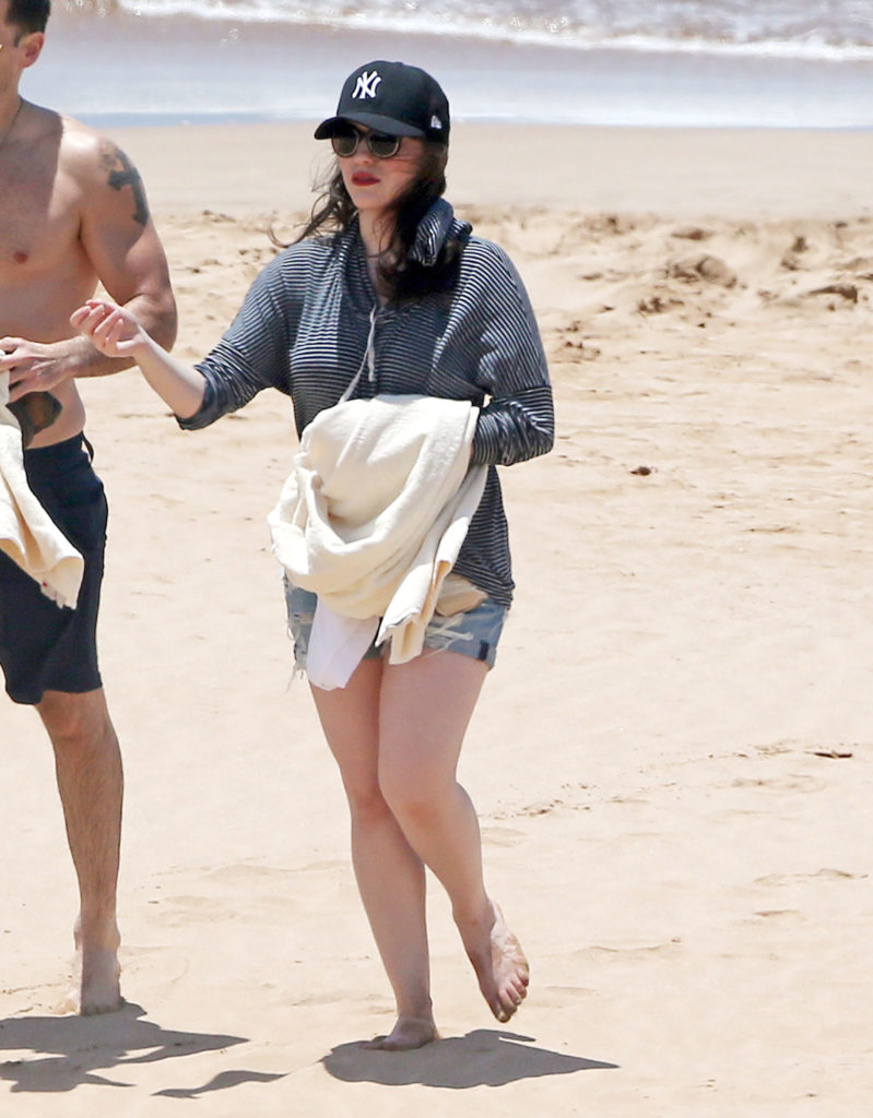 Kat Dennings Beach Images