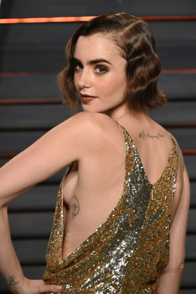 Lily Collins Boobs Photos
