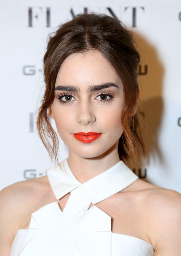 Lily Collins Makeup Images
