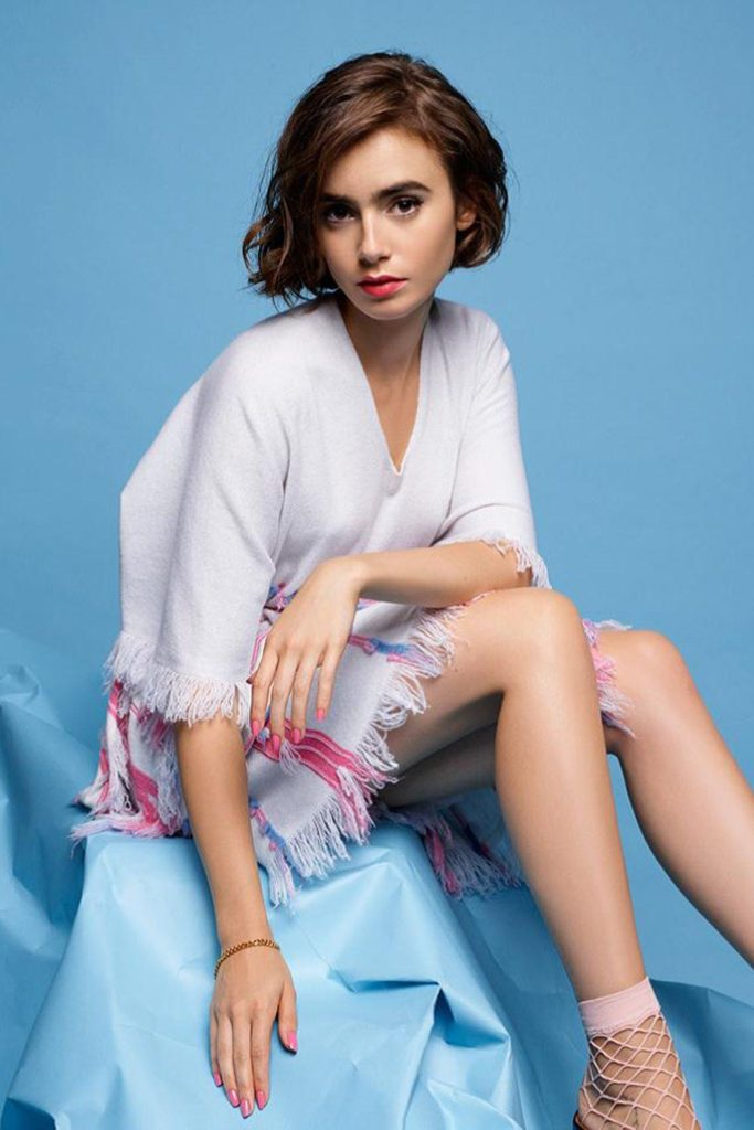 Lily Collins Undergarments Wallpapers