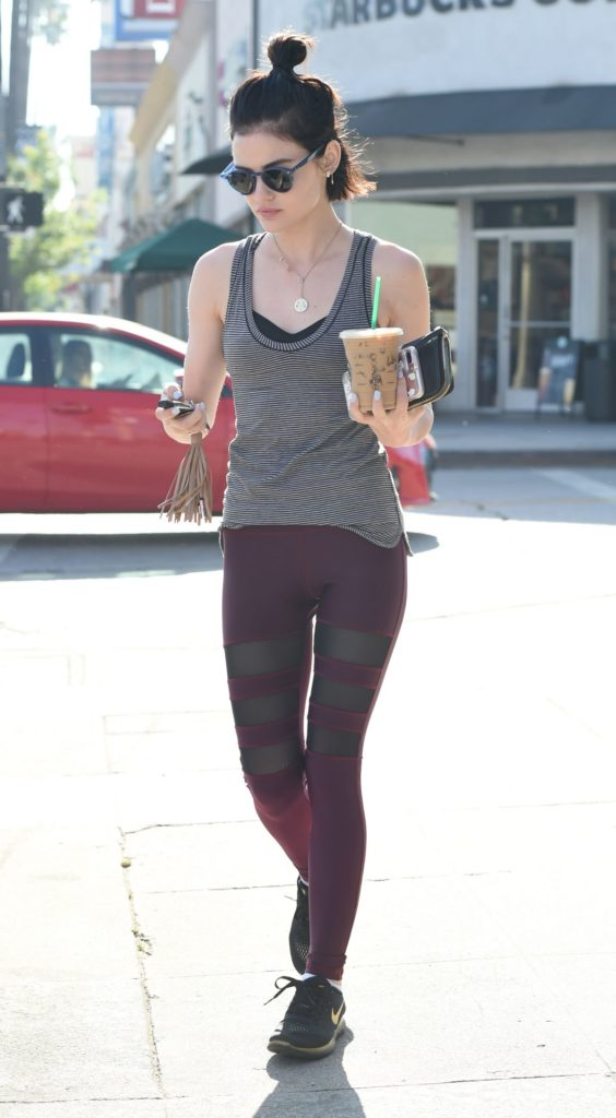 Lucy Hale Leggings Pictures