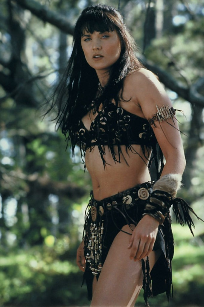 Lucy Lawless Bra Panty Wallpapers