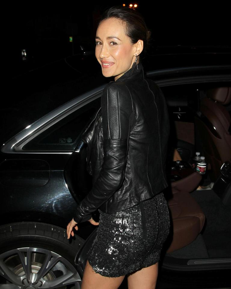 Maggie Q Yoga Pants Pictures
