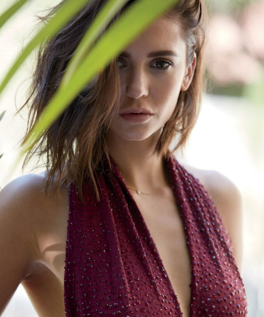 Nina Dobrev Hot Cleavage Images