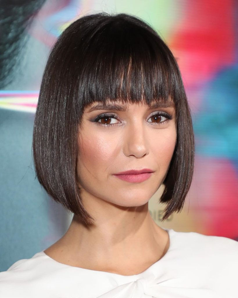 Nina Dobrev New Hair Cut Pics