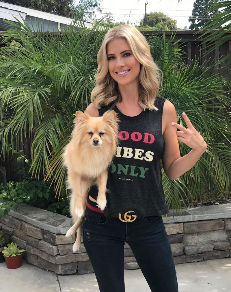 Christina El Moussa With Dog Images