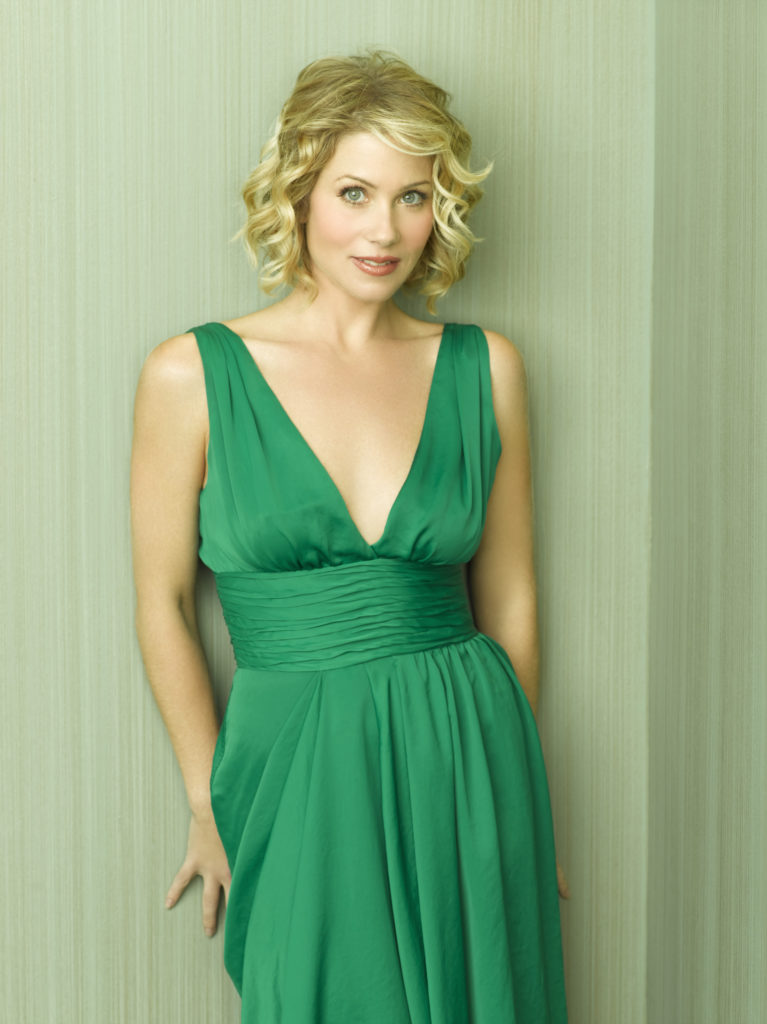 Christina Applegate In Green Gown Images