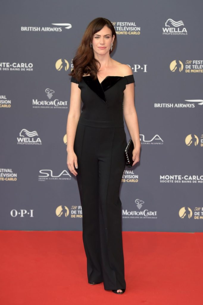 Maggie Siff In Black Gown Wallpapers