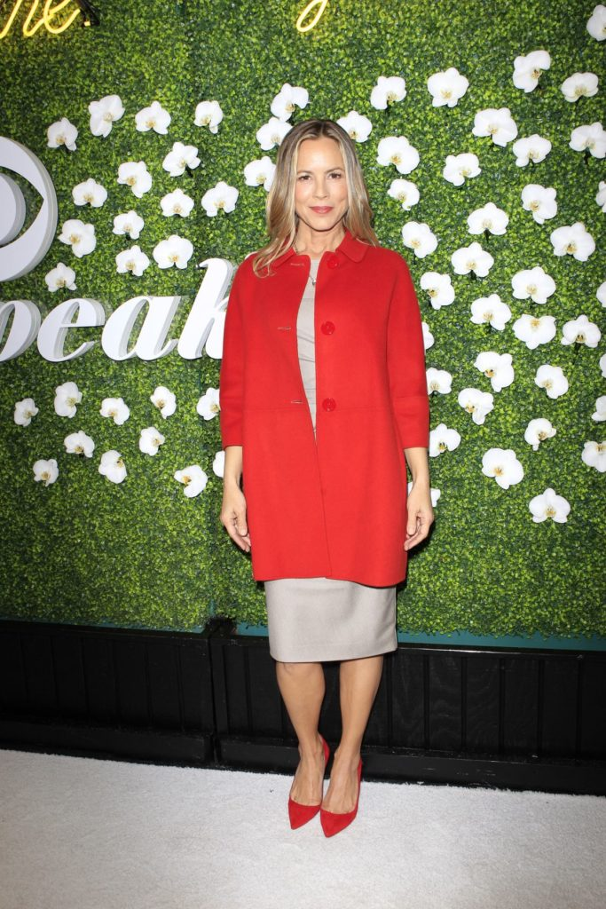 Maria Bello IN Red Clothes Pictures