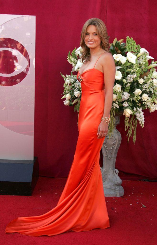 Mariska Hargitay At Event In Red Gown Pics