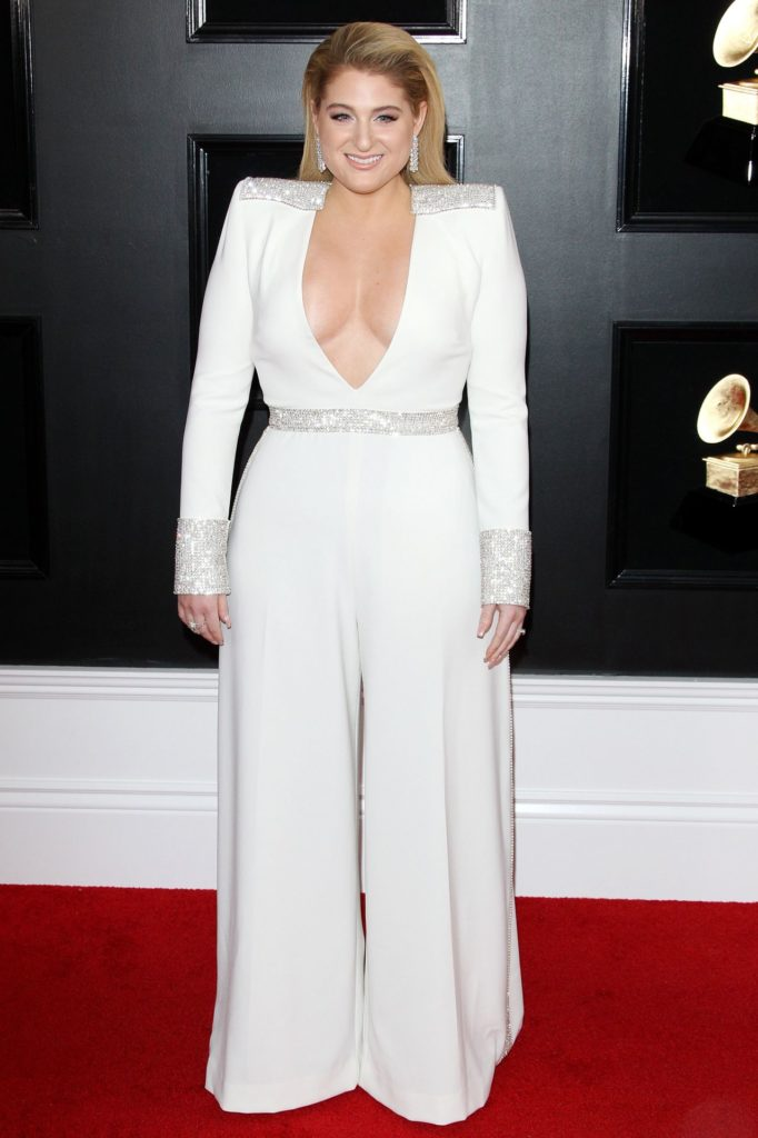 Meghan Trainor In White Gown Images