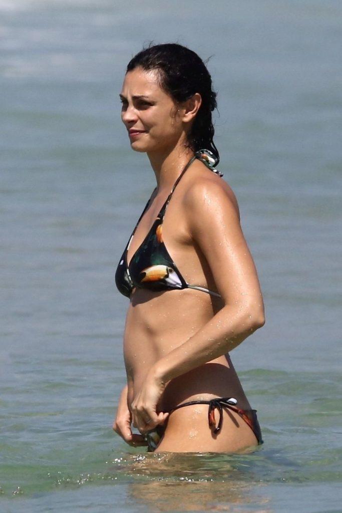 Morena Baccarin Bikini Beach Photos
