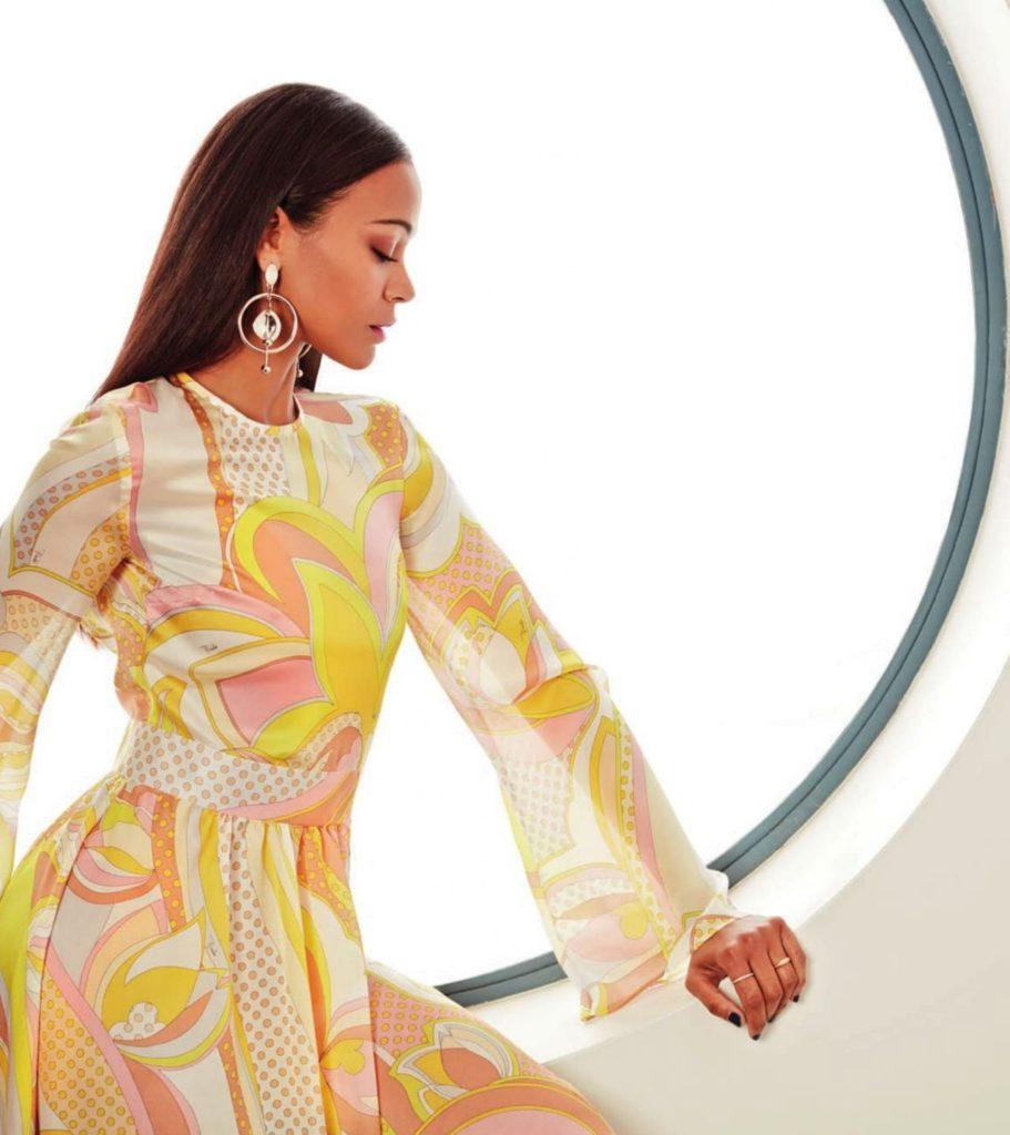 Zoe Saldana In Gown Images